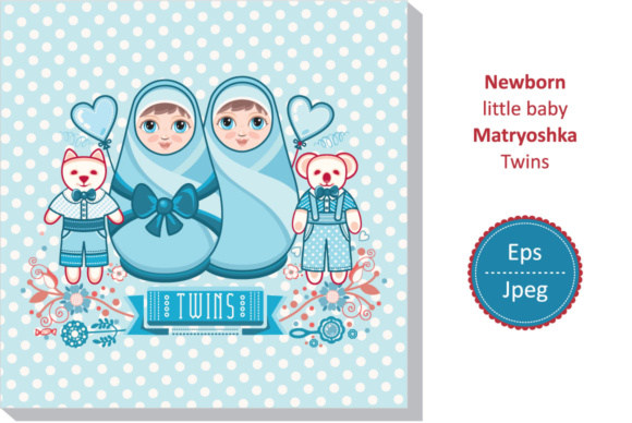 Baby Shower Invite Newborn Twins Boys Graphic By Zoyali Creative