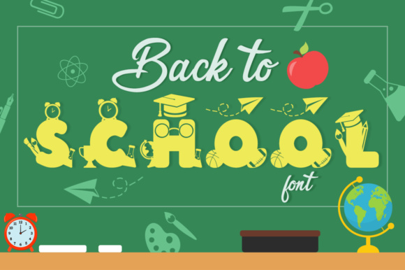 Print on Demand: Back to School Decorative Font By Anastasia Feya