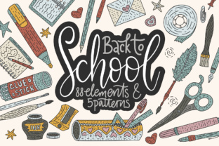 Back to School. Handdrawn Set. Graphic By Red Ink