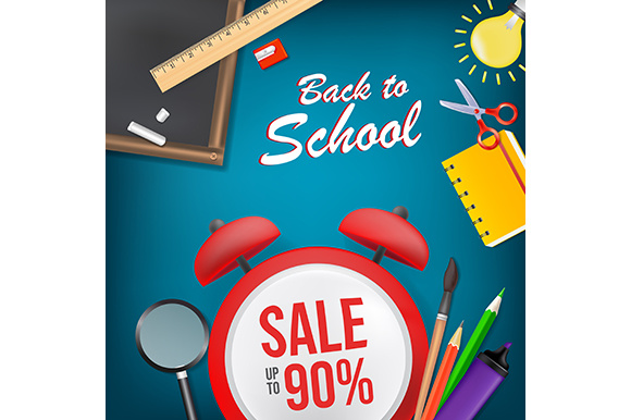 Download Free Back To School Poster Illustration Graphic By Indostudio for Cricut Explore, Silhouette and other cutting machines.