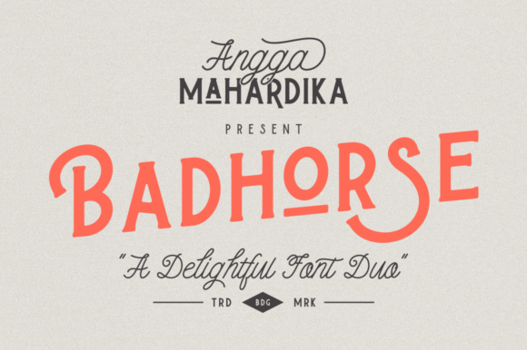 Badhorse Serif Font By AMTYPES