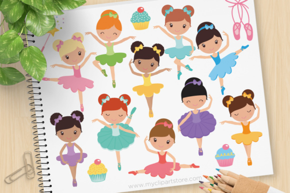 Print on Demand: Ballerina Clipart Graphic Illustrations By MyClipArtStore