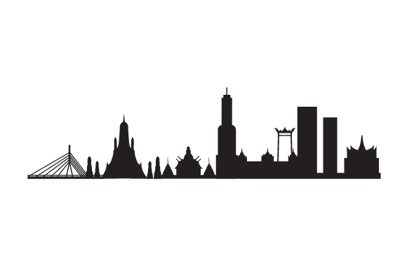 Download Free Bangkok City Skyline Svg Cut File By Creative Fabrica Crafts for Cricut Explore, Silhouette and other cutting machines.