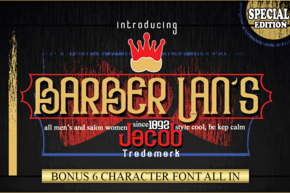 Download Free Barber Lan S Font By Jehansyah251 Creative Fabrica for Cricut Explore, Silhouette and other cutting machines.