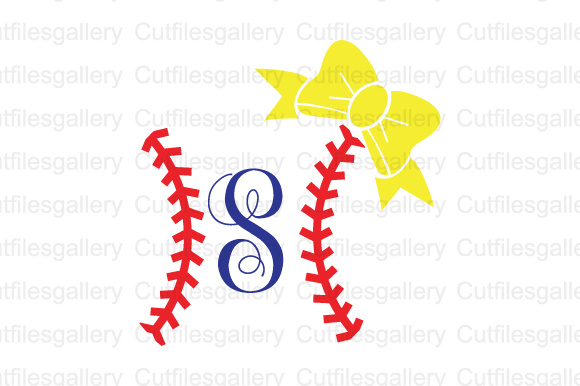 Download Free Baseball Bow Cut File Graphic By Cutfilesgallery Creative Fabrica for Cricut Explore, Silhouette and other cutting machines.