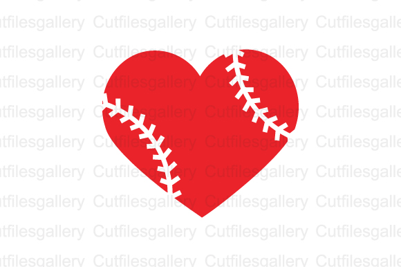 Download Free Baseball Heart Cut File Graphic By Cutfilesgallery Creative for Cricut Explore, Silhouette and other cutting machines.
