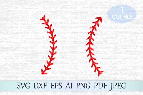 Download Free Baseball Stitches Graphic By Magicartlab Creative Fabrica for Cricut Explore, Silhouette and other cutting machines.