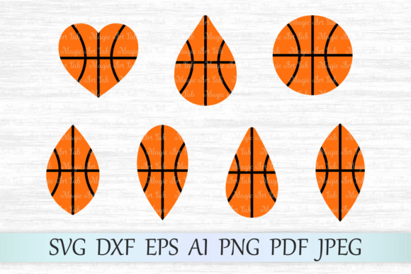 Download Free Basketball Earrings Graphic By Magicartlab Creative Fabrica for Cricut Explore, Silhouette and other cutting machines.
