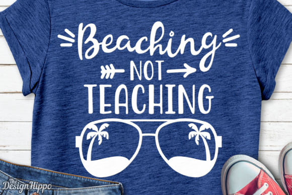 Beaching Not Teaching SVG Gráfico Crafts Por thedesignhippo