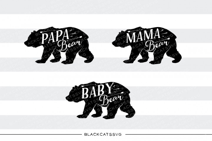Download Free Bear Family Graphic By Blackcatsmedia Creative Fabrica for Cricut Explore, Silhouette and other cutting machines.