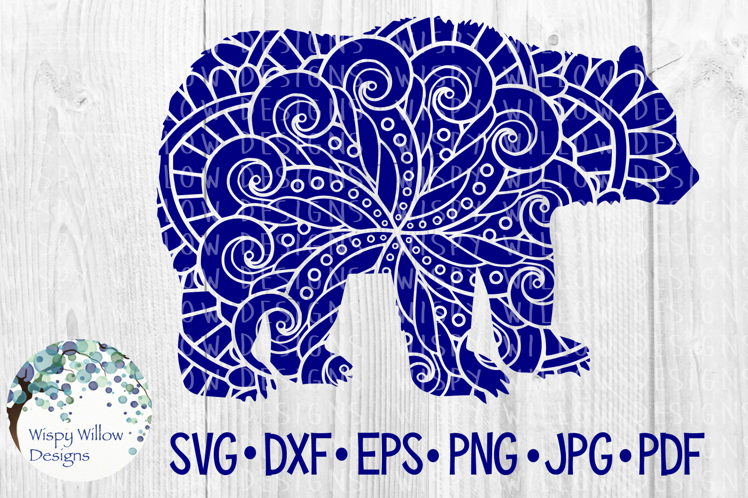 Download Free Bear Zentangle Graphic By Wispywillowdesigns Creative Fabrica for Cricut Explore, Silhouette and other cutting machines.