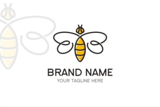 Bee Logo Graphic By TS d'sign