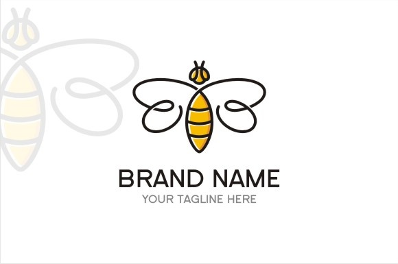 Bee Logo Graphic Logos By TS d'sign - Image 1