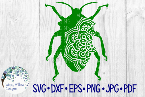 Download Free Beetle Mandala Graphic By Wispywillowdesigns Creative Fabrica for Cricut Explore, Silhouette and other cutting machines.