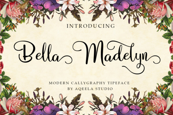Print on Demand: Bella Madelyn Script Script & Handwritten Font By Aqeela Studio - Image 1