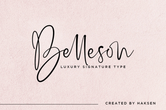 Print on Demand: Belleson Script Script & Handwritten Font By Haksen