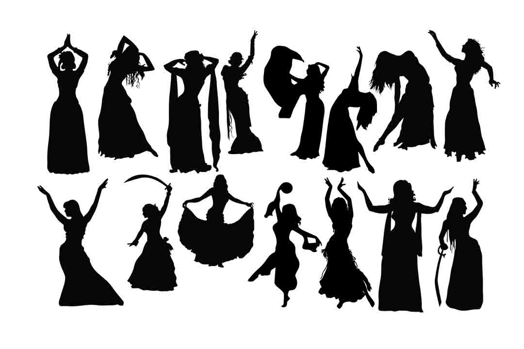 Download Free Belly Dance Graphic By Retrowalldecor Creative Fabrica for Cricut Explore, Silhouette and other cutting machines.