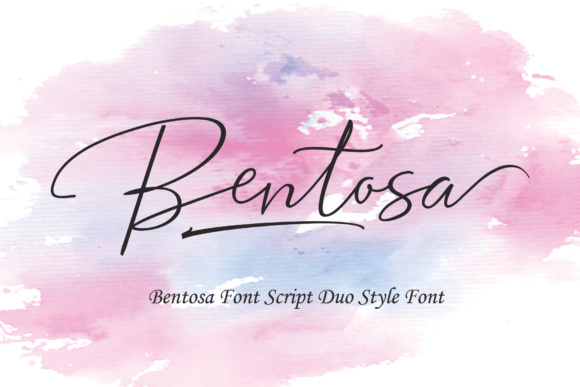 Print on Demand: Bentosa Duo Script & Handwritten Font By Polem