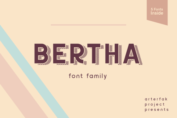 Print on Demand: Bertha Sans Serif Font By Arterfak Project