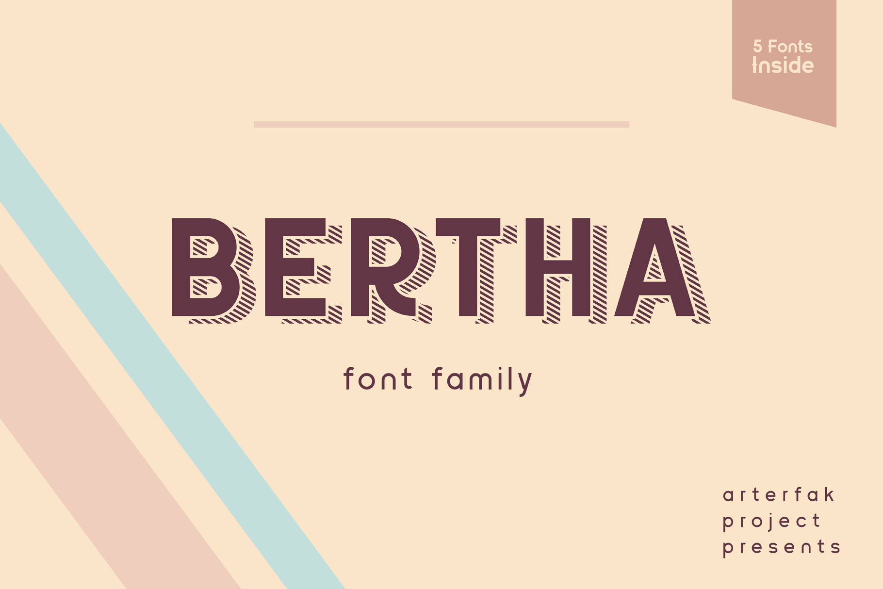 Download Free Bertha Font By Arterfak Project Creative Fabrica for Cricut Explore, Silhouette and other cutting machines.