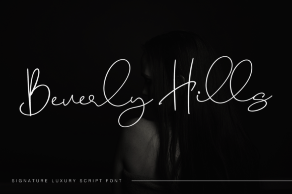 Print on Demand: Beverly Hills Script & Handwritten Font By Pasha Larin
