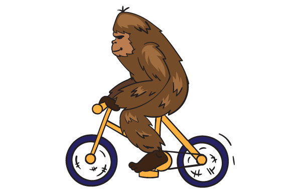Download Free Big Foot Riding A Mountain Bike Svg Cut File By Creative Fabrica for Cricut Explore, Silhouette and other cutting machines.