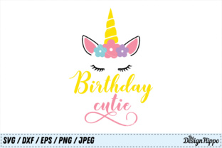 Download Free Birthday Cutie Graphic By Thedesignhippo Creative Fabrica for Cricut Explore, Silhouette and other cutting machines.