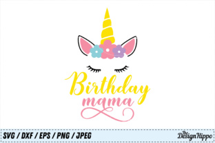 Birthday Mama SVG Graphic By thedesignhippo