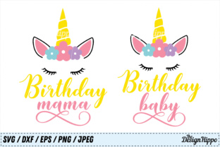 Birthday SVG Bundle Mama and Baby Graphic By thedesignhippo