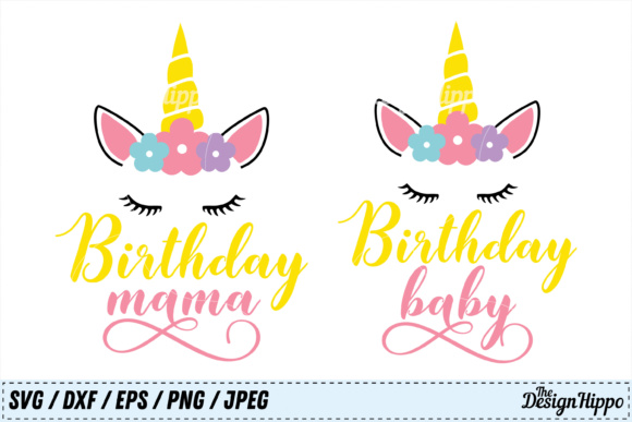 Birthday SVG Bundle Mama and Baby Graphic Crafts By thedesignhippo