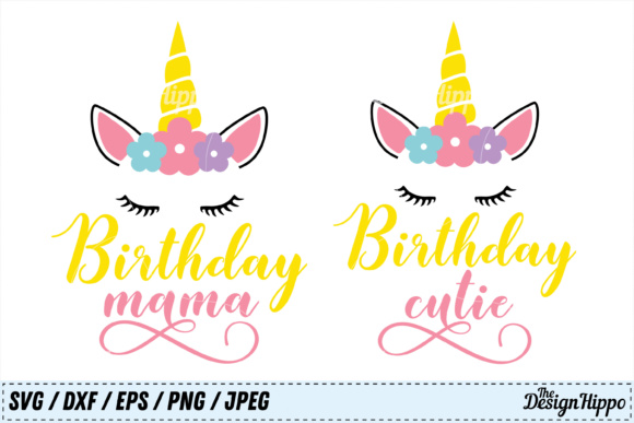 Birthday SVG Bundle Mama and Cutie Graphic By thedesignhippo Image 1