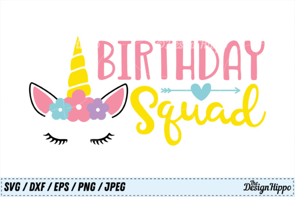 Birthday Squad SVG Graphic By thedesignhippo Image 1