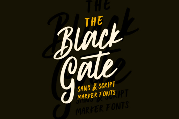 Black Gate Font By AMTYPES Image 1