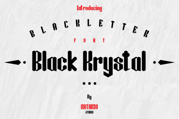 Print on Demand: Black Krystal Blackletter Font By Katario Studio