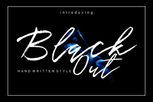 Black out Font By screen letter