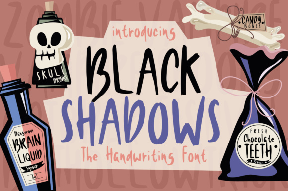 Print on Demand: Black Shadows Script & Handwritten Font By Caoca Studios
