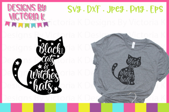 Black Cats & Witches Hats SVG