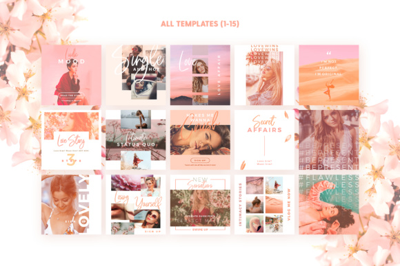 Print on Demand: Blush Emotions - Social Pack Graphic Web Templates By lavie1blonde - Image 3