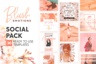 Print on Demand: Blush Emotions - Social Pack Graphic Web Templates By lavie1blonde