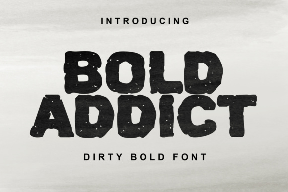 Print on Demand: Bold Addict Display Font By Lettersiro Co.