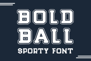 Bold Ball Display Font By Lickable Pixels