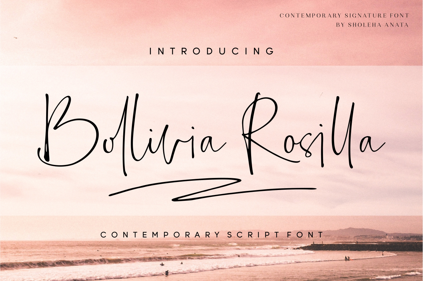 Download Free Bollivia Rosilla Font By Anata Sholeha Creative Fabrica for Cricut Explore, Silhouette and other cutting machines.
