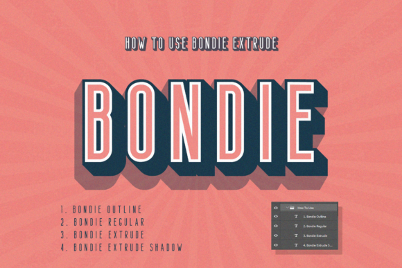 Print on Demand: Bondie Sans Serif Font By craftsupplyco - Image 1