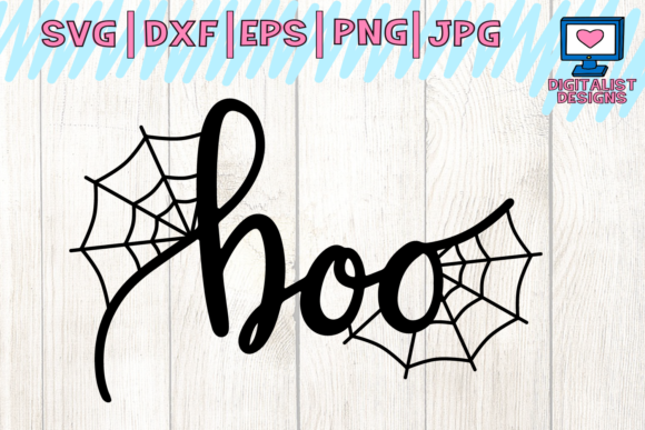 Download Free Boo Spiderweb Halloween Svg Graphic By Digitalistdesigns for Cricut Explore, Silhouette and other cutting machines.