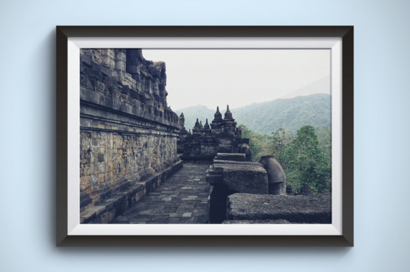 Borobudur Temple Graphic Architecture By Kerupukart Production - Image 1