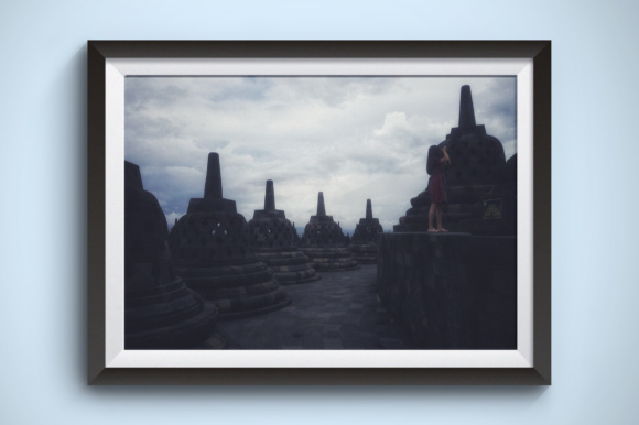 Borobudur Temple Grafik Architektur von Kerupukart Production