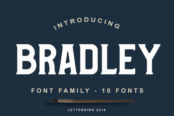 Print on Demand: Bradley Family Display Font By Lettersiro Co. - Image 1