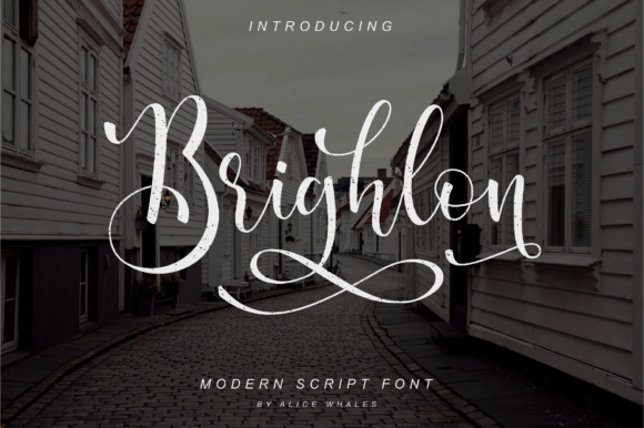Print on Demand: Brighlon Script & Handwritten Font By NendesKombet