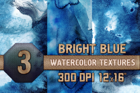Download Free Bright Blue Watercolor Texture Digital Papers Scrapbooking Paper for Cricut Explore, Silhouette and other cutting machines.