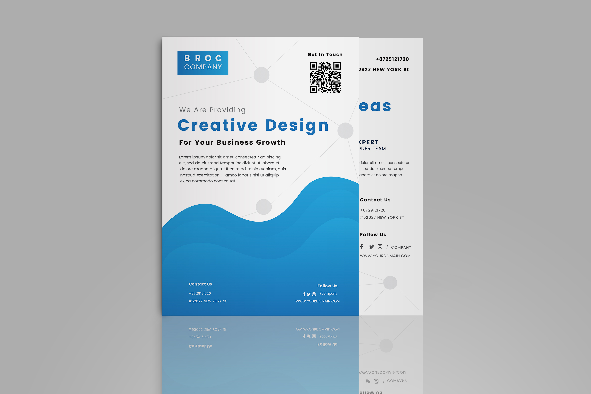 Download Free Business Brochure Template Graphic By Tmint Creative Fabrica for Cricut Explore, Silhouette and other cutting machines.